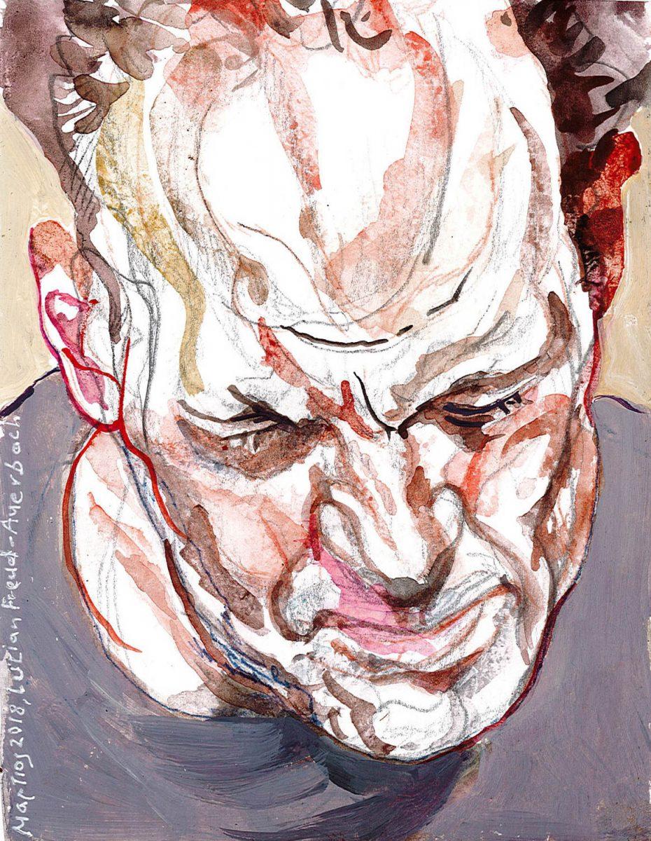 """Lucian Freud, """"Frank Auerbach"""", 1975/1976"""